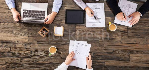 деловые люди интервью мнение Сток-фото © AndreyPopov