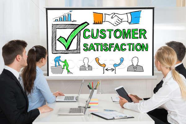 Customer Satisfaction Survey Concept Presentation Stock photo © AndreyPopov