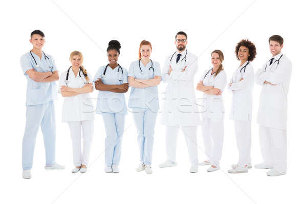 Groep glimlachend artsen man gezondheid team Stockfoto © AndreyPopov