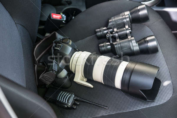 Electronic Equipments On Car Seat Stock photo © AndreyPopov