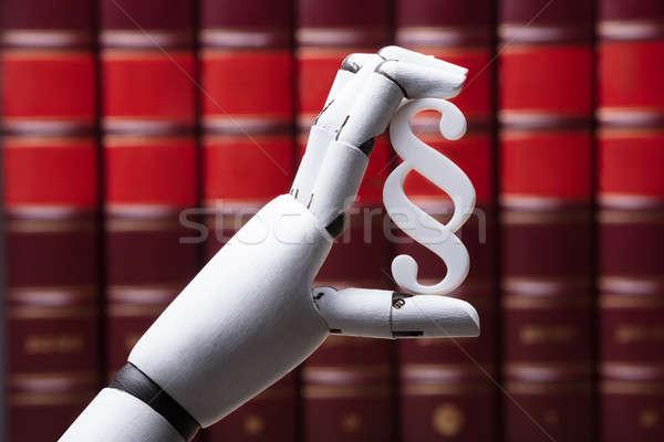 Roboter halten Absatz Symbol Roboter Stock foto © AndreyPopov