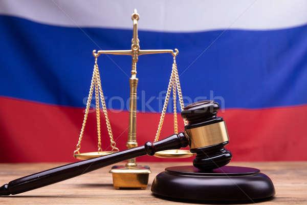 Photo stock: Juge · marteau · justice · échelle · bureau