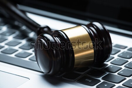 Wooden Gavel On Laptop Stock photo © AndreyPopov