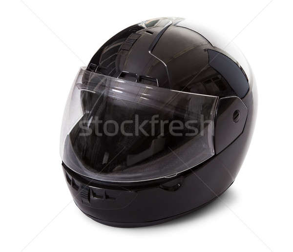 Black motorcycle helmet Stock photo © AndreyPopov