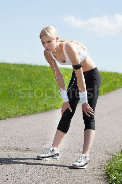 Tired Woman After Jogging Stock photo © AndreyPopov