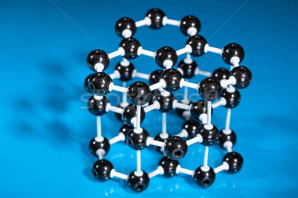 Model grafiet moleculair structuur groene Stockfoto © AndreyPopov