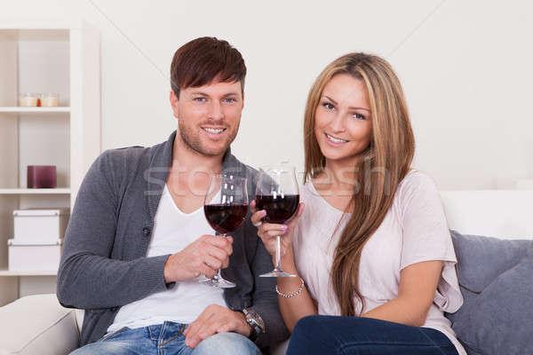 Winners tossed red wine Stock photo © AndreyPopov