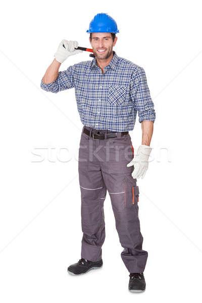 Portrait of happy worker Stock photo © AndreyPopov