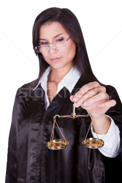 Judge holding the Scales of Justice Stock photo © AndreyPopov
