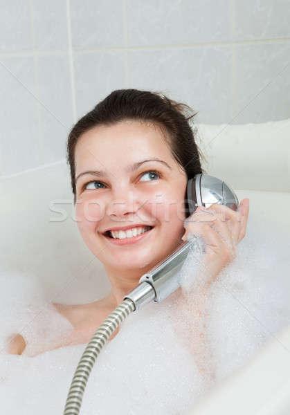 Ritratto donna vasca da bagno Foto d'archivio © AndreyPopov