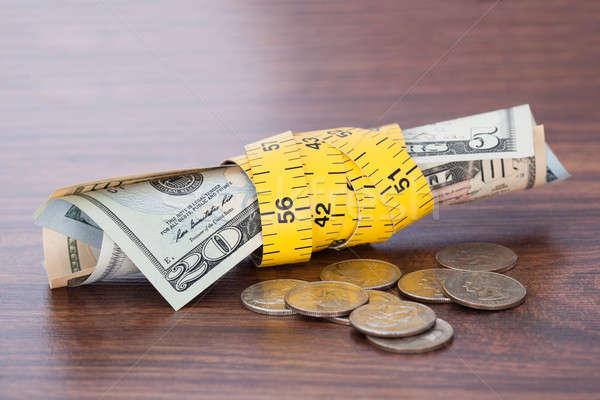 Bankbiljetten munten tabel geld Stockfoto © AndreyPopov