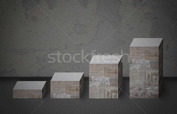 Bar Graph Made From Stones Stock photo © AndreyPopov