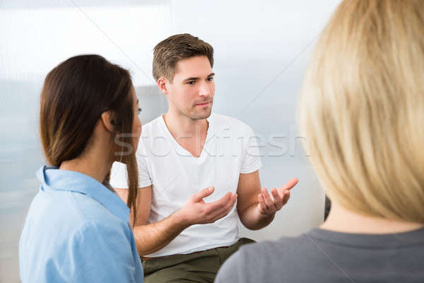 Group Of People Discussing Stock photo © AndreyPopov
