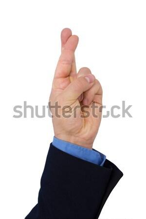 Mão dedo negócio homem executivo trabalhador Foto stock © AndreyPopov