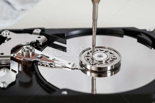 Csavarhúzó közelkép nyitva javítás számítógép fém Stock fotó © AndreyPopov