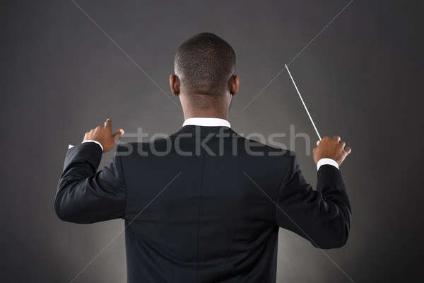 Conductor Directing With His Baton Stock photo © AndreyPopov