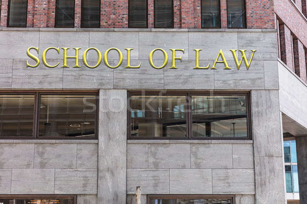 School of law sign on building in city Stock photo © AndreyPopov