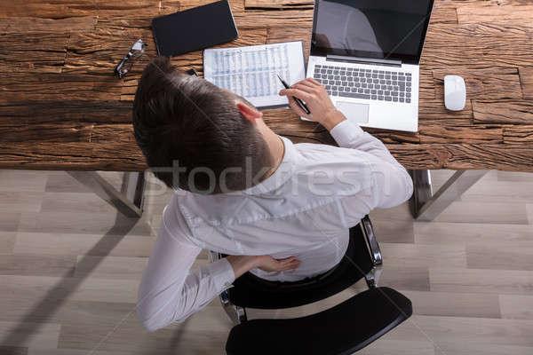 Zakenman lijden rugpijn kantoor Stockfoto © AndreyPopov