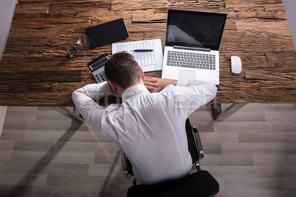 Businessman Sleeping In Office Stock photo © AndreyPopov