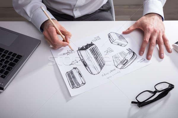 художник бумаги карандашом стороны пер Сток-фото © AndreyPopov
