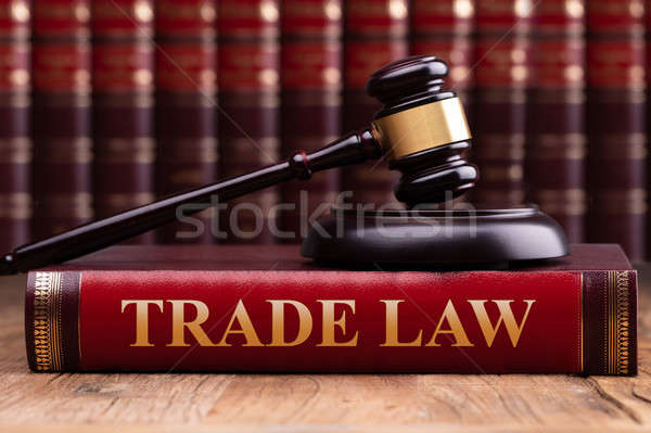Gavel And Soundboard On Trade Law Book Stock photo © AndreyPopov