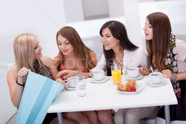Women friends looking at shopping Stock photo © AndreyPopov
