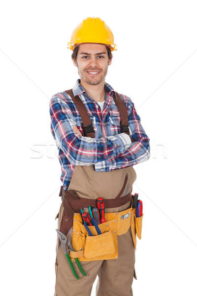 Confident worker wearing toolbelt Stock photo © AndreyPopov