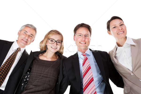 Negocios mirando hacia abajo vista cuatro Foto stock © AndreyPopov
