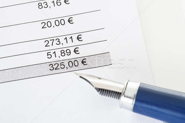 Close-up on total amount in invoice Stock photo © AndreyPopov