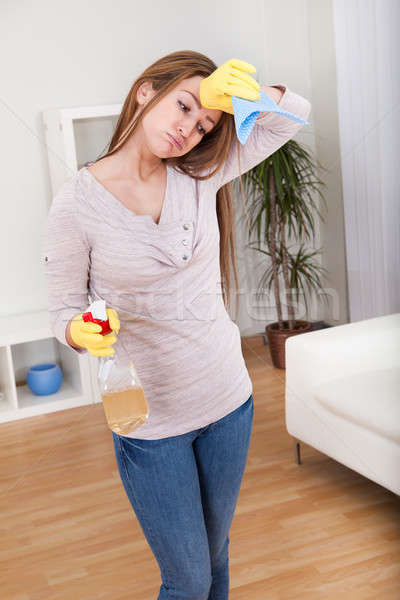 Young Woman Cleaning House Stock photo © AndreyPopov