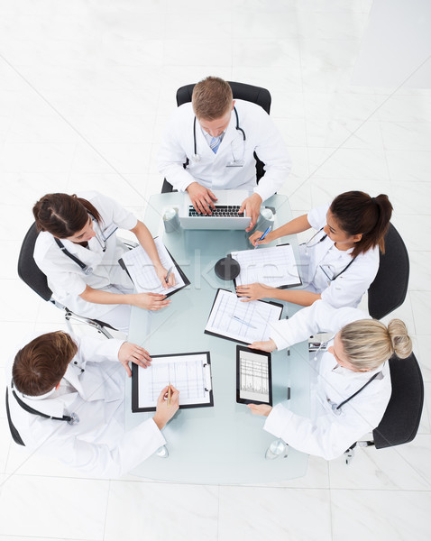 Doctors Analyzing Medical Records Stock photo © AndreyPopov