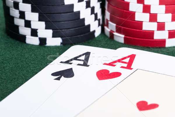 Aces in blackjack game Stock photo © AndreyPopov