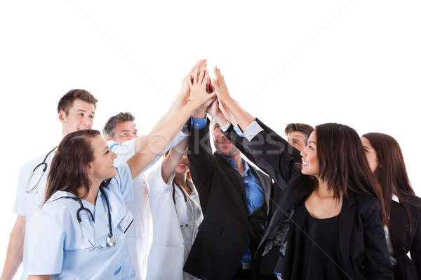 Médicos high five gesto isolado Foto stock © AndreyPopov