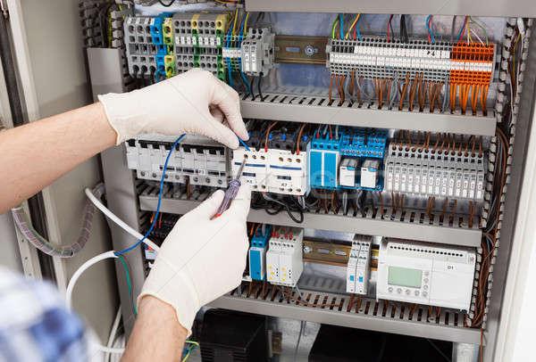 Foto stock: Técnico · imagem · masculino · homem · tecnologia
