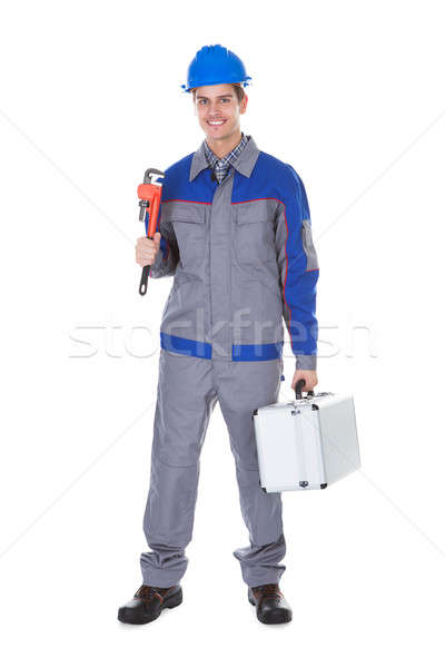 Male Worker Wrench Stock photo © AndreyPopov