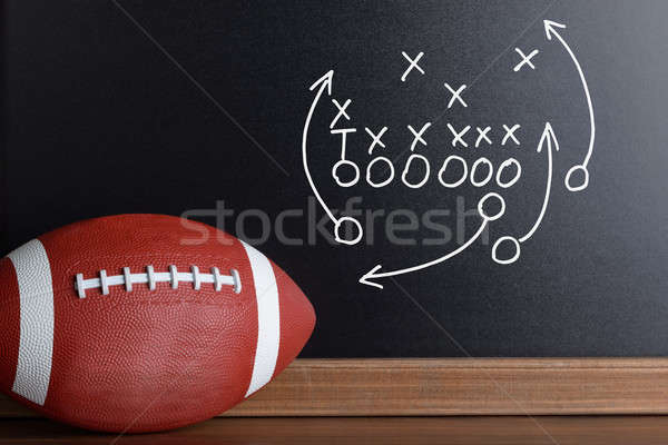 Photo stock: Football · jouer · stratégie · sur · craie