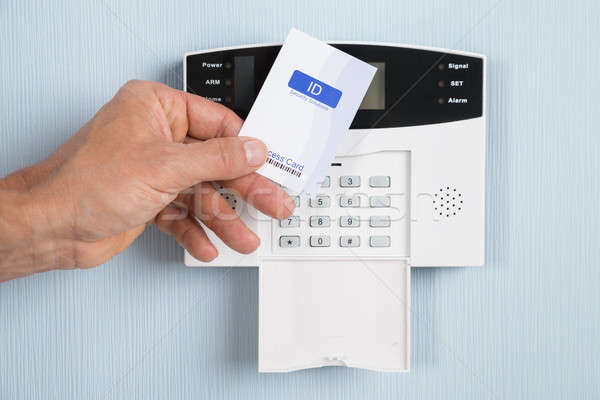 Person Using Security Card Stock photo © AndreyPopov