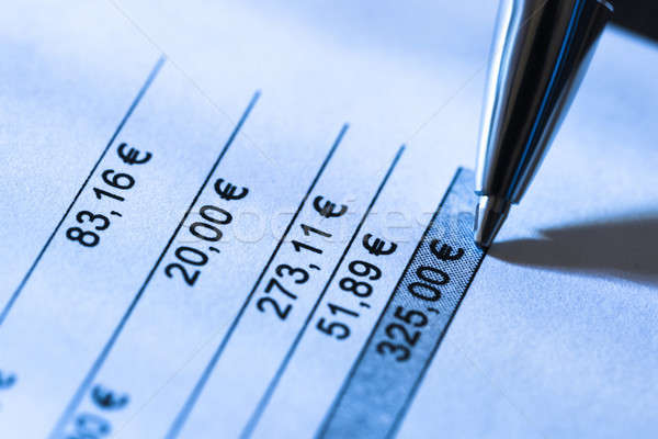 Close-up Of Total Amount Due In Invoice Stock photo © AndreyPopov