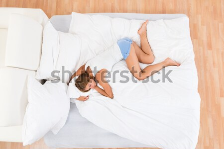 Woman Suffering From Stomach Pain Stock photo © AndreyPopov