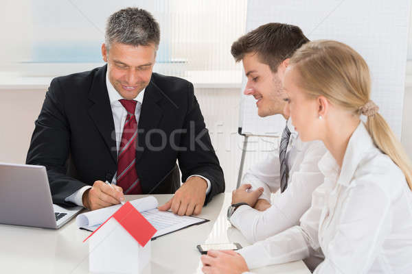 Couple Consulting Estate Agent Stock photo © AndreyPopov