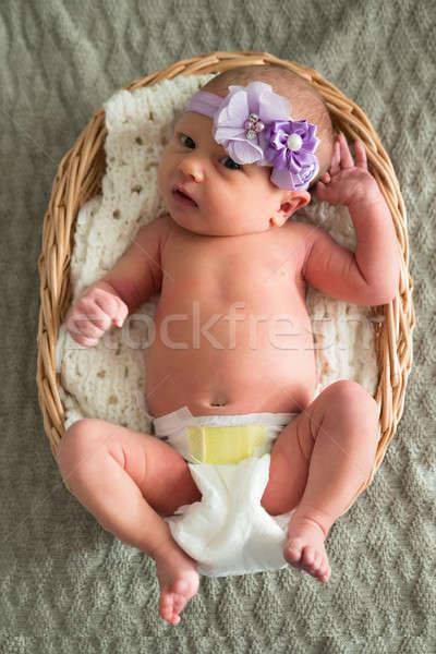Baby Wearing Purple Headband Stock photo © AndreyPopov