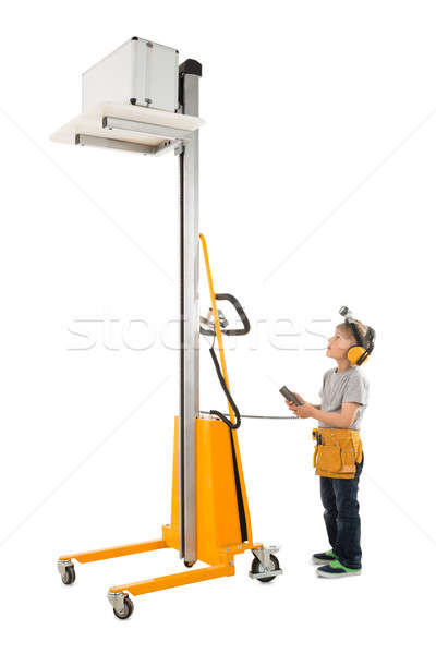 Boy Operating Forklift Stock photo © AndreyPopov