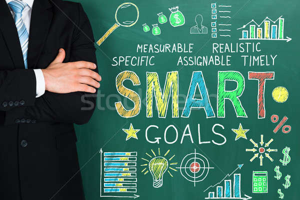 Businessperson With Smart Goal Concept On Blackboard Stock photo © AndreyPopov