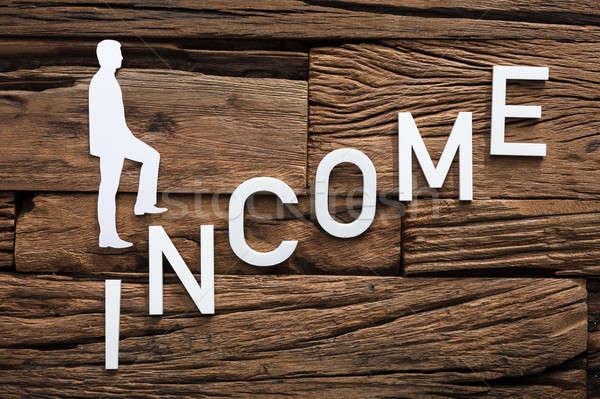 紙 ビジネスマン 登山 収入 はしご 木材 ストックフォト © AndreyPopov
