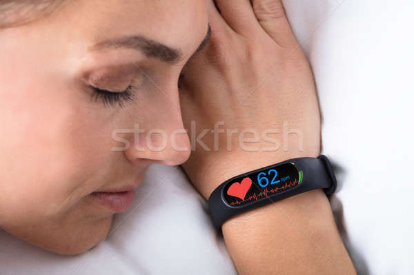 Fitness activité main pulsation taux femme Photo stock © AndreyPopov