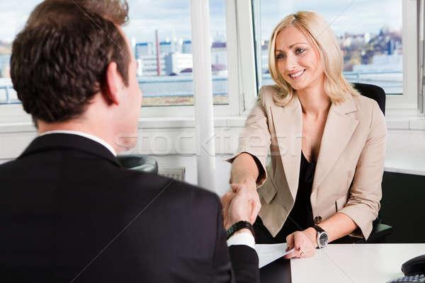 Zdjęcia stock: Działalności · wywiad · dwa · biuro · kobieta