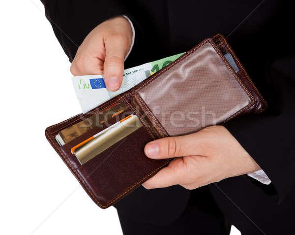 Foto stock: Homem · numerário · pagamento · papel