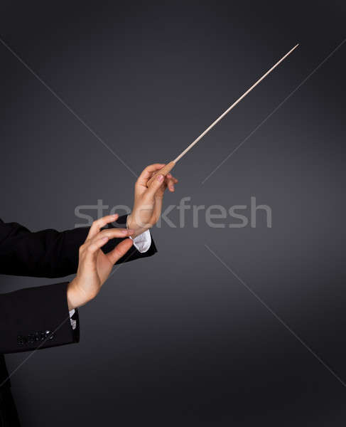 Music conductor with a baton Stock photo © AndreyPopov