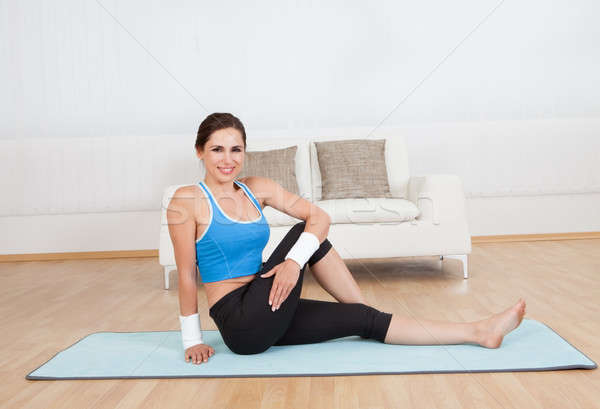Woman working out Stock photo © AndreyPopov