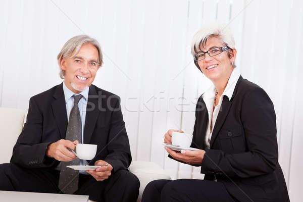 Senior businesspeople on coffee break Stock photo © AndreyPopov